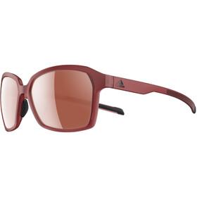adidas Aspyr Glasses trace maroon matt/lst active silver